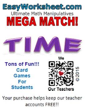 Mega Match - Time (Telling Time)