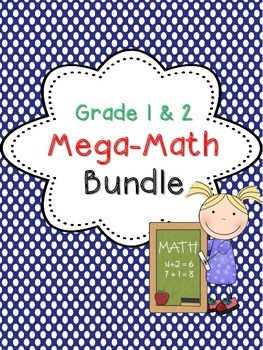 Math Games and Centers Bundle for Grades 1 and 2
