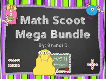 Mega Math Scoot (Task Cards) Bundle