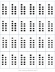 Mega Pack of Number Frames with dots - blank/white background
