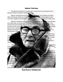 Meisner Actng Overview