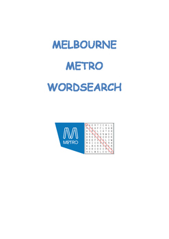 Melbourne Metro Wordsearch
