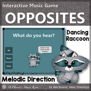 Melodic Direction {Up Down Same} - Interactive Music Game