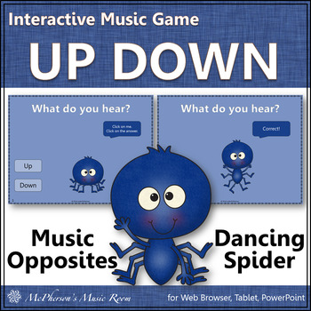 Melodic Direction Up and Down Dancing Spider {Interactive