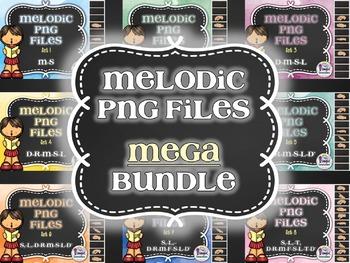 Melodic PNG Files MEGA Bundle