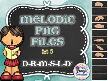 Melodic PNG Files Set 5 (D-R-M-S-L-D')