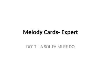 Melody Cards- Level 8 (DO' TI LA SOL FA MI RE DO)