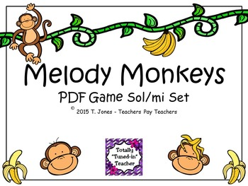 Melody Monkeys: Sol/Mi Set
