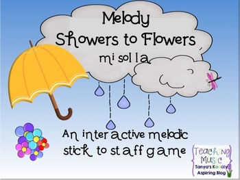 Melody Showers to Flowers: An Interactive Melodic Stick to
