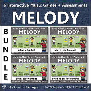 Melody Time Bundle Interactive Music Games + Assessments (