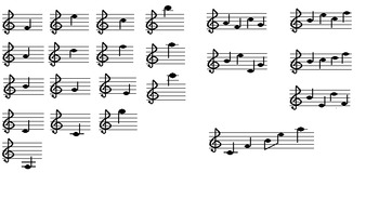 Melody- Treble Clef 5 Quizzes/Tests