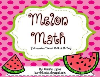 Melon Math {6 Watermelon Themed Math Tub Centers}