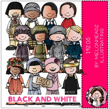 Melonheadz: 1920s Kidlettes - BLACK AND WHITE