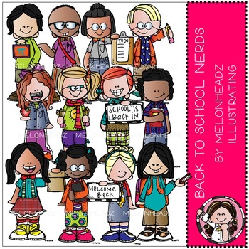 Melonheadz: Back to School clip art - Nerds - Combo Pack