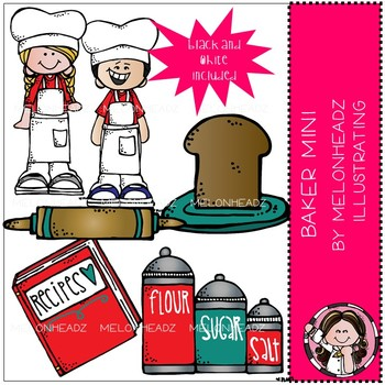 Melonheadz: Baker clip art Mini Set