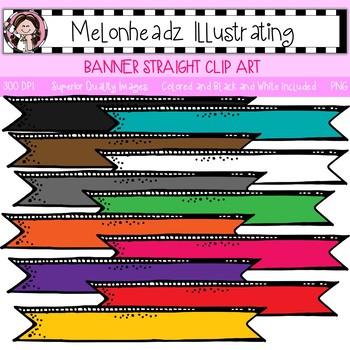 Melonheadz: Banner clip art - Straight - Single Image