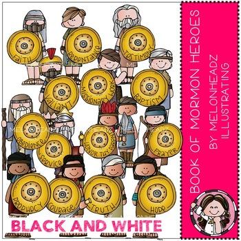 Melonheadz: Book of Mormon prophets BLACK AND WHITE