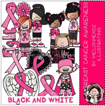 Melonheadz: Breast Cancer Awareness BLACK AND WHITE