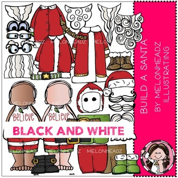 Melonheadz: Build A Santa BLACK AND WHITE