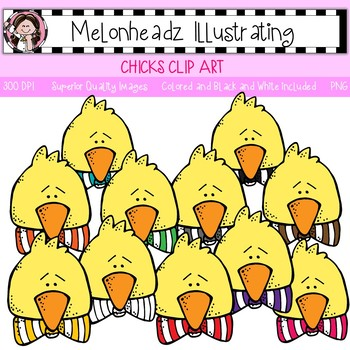 Melonheadz: Chick clip art - Single Image
