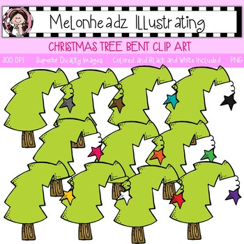 Melonheadz: Christmas Tree clip art - Bent - Single Image