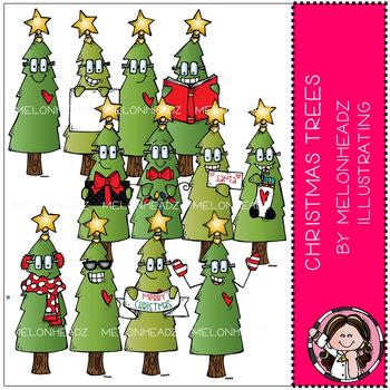 Melonheadz: Christmas Trees clip art - COMBO PACK