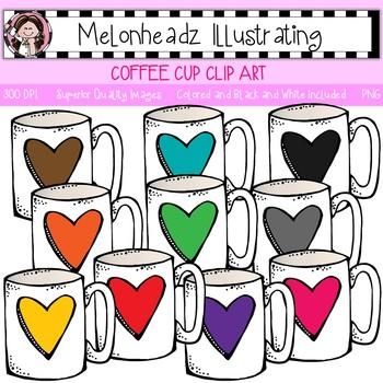 Melonheadz: Coffee Cup clip art - Single Image