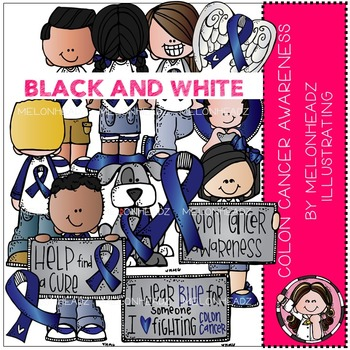 Melonheadz: Colon Cancer Awareness BLACK AND WHITE