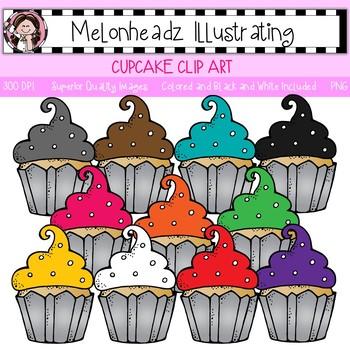 Melonheadz: Cupcake clip art - Single Image