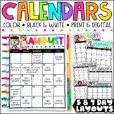 Editable Calendar Templates - Lifetime Updates {Melonheadz