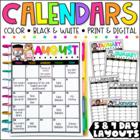 Editable Calendar Templates - Lifetime Updates {Melonheadz Edition}