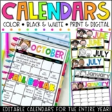 Editable Calendar Templates - Lifetime Updates {Melonheadz