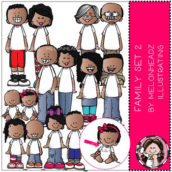 Melonheadz: Family clip art Set 2