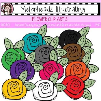 Melonheadz: Flower clip art 3 - Single Image