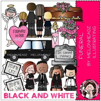 Melonheadz: Funeral clip art - BLACK AND WHITE