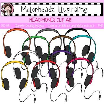 Melonheadz: Headphones clip art - Single Image