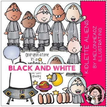 Melonheadz: Kidlette Aliens BLACK AND WHITE