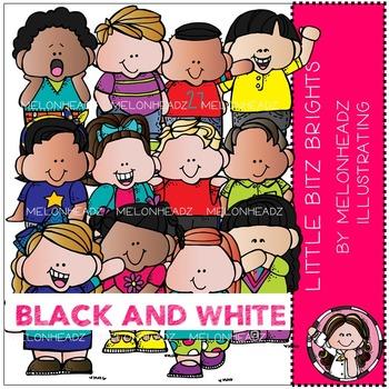 Melonheadz: Lil Bitz Brights BLACK AND WHITE