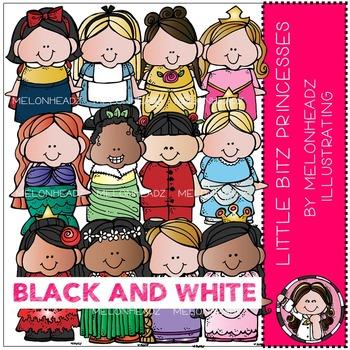 Melonheadz: Lil Bitz Princesses BLACK AND WHITE