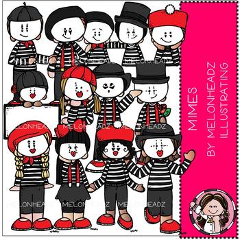 Melonheadz: Mimes clip art - COMBO PACK