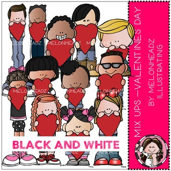 Melonheadz: Mix Ups Valentine's Day BLACK AND WHITE