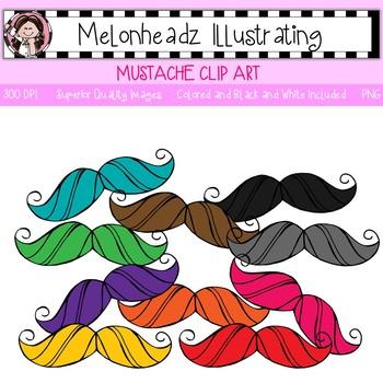 Melonheadz: Mustache clip art - Single Image