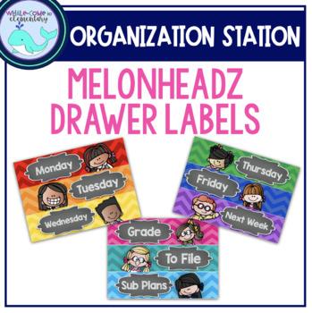 Melonheadz Organizing Drawer Labels