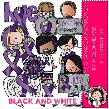 Melonheadz: Pancreatic Cancer Awareness BLACK AND WHITE