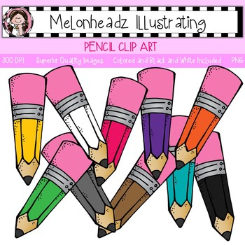 Melonheadz: Pencil clip art - Single Image