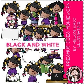 Melonheadz: Preshus Does Homework BLACK AND WHITE