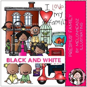 Melonheadz: Preshus' Family BLACK AND WHITE