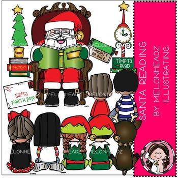 Melonheadz: Santa Reading clip art - COMBO PACK