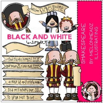 Melonheadz: Shakespeare BLACK AND WHITE