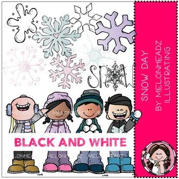 Melonheadz: Snow Day BLACK AND WHITE